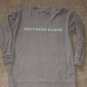 Southern marsh oversized extra small sweatshirt